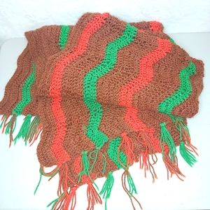Vintage Retro Country Spice Chic Afghan Blanket